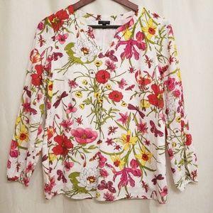 Talbots Floral Shirt Petite S